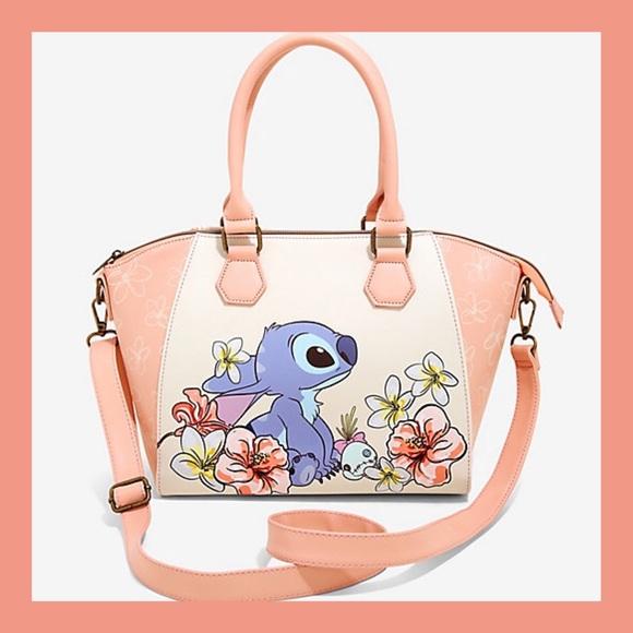 ❗️NEW❗️Lilo & Stitch Flowers Satchel Bag